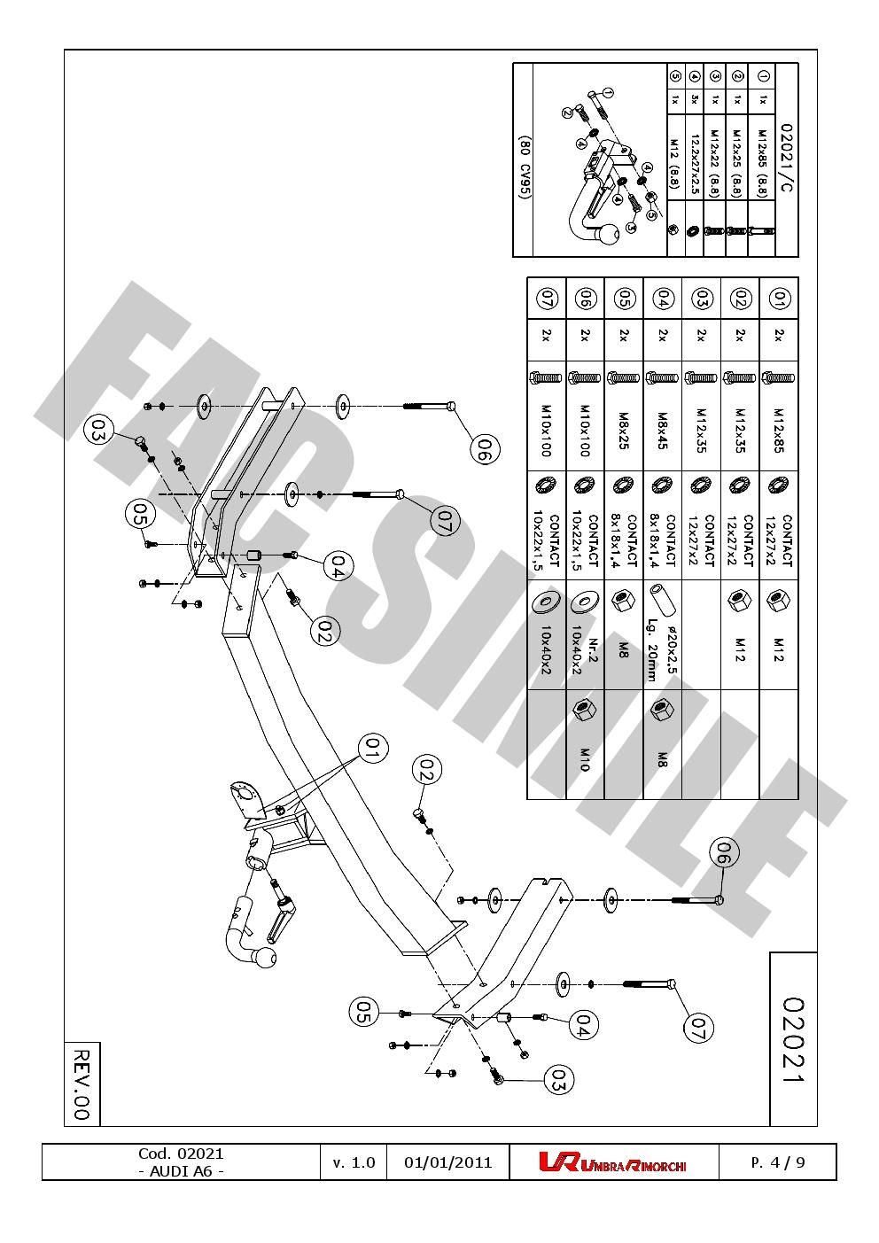 7Br relais dériv pour Audi A6-S6 Avant Break Quattro 98-05 020/_B2 Attelage