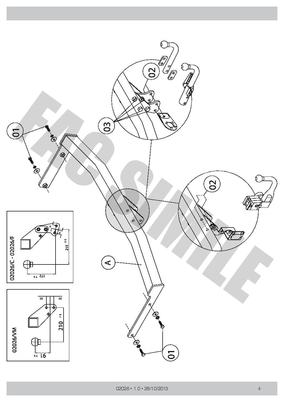 Anhängerkupplung Abnehmbare Audi A3 Sportback 5 Türer 04-13 02026 AHK 7p E-Satz