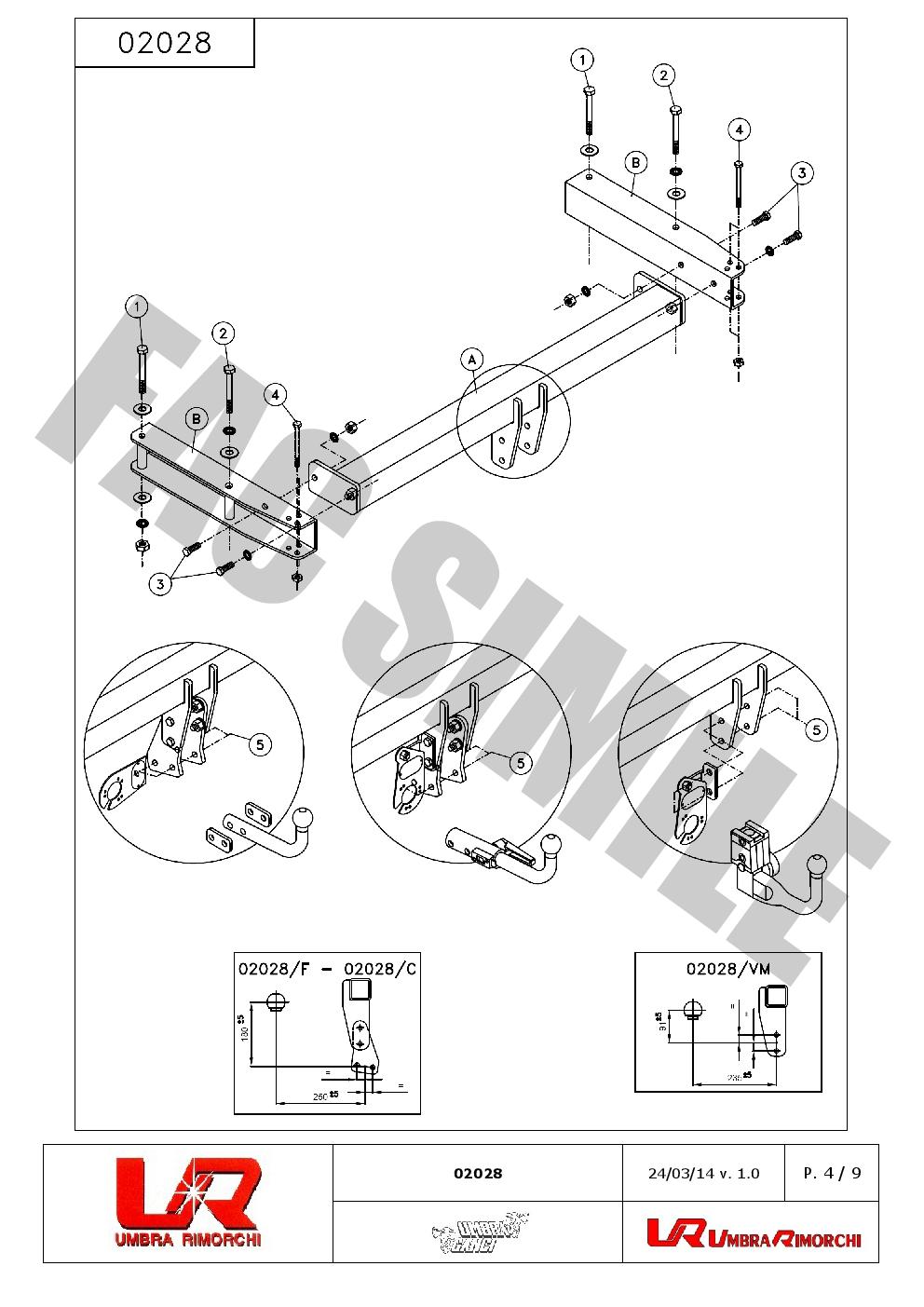 Feste Starr Anhängerkupp +7p C2 ESatz für Audi A4 Allroad Quattro 12-15 0202_A6
