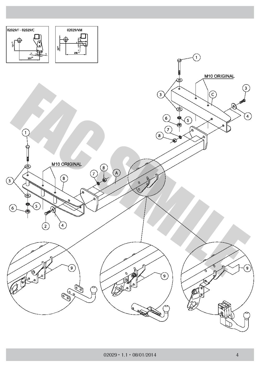 AHK 13p C2 E-Satz Abnehmbare Anhängerkupplung Audi Q5 SUV 2-4WD 08-16 02029/_B2