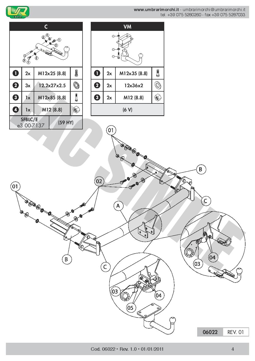 AHK Abnehmbare Anhängerkupplung BMW 3 Series Compact 2001-2005 06022//C/_B1