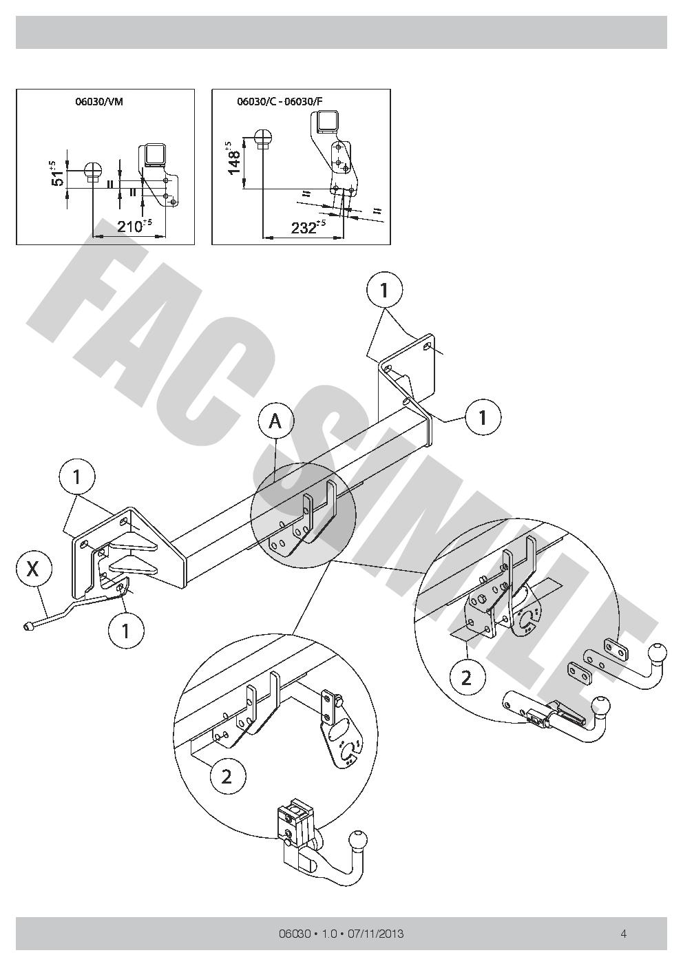 7Br Faisceaux pour BMW X1 SUV E84 2-4WD 2009-15 0603/_E1 Attelage Démontable