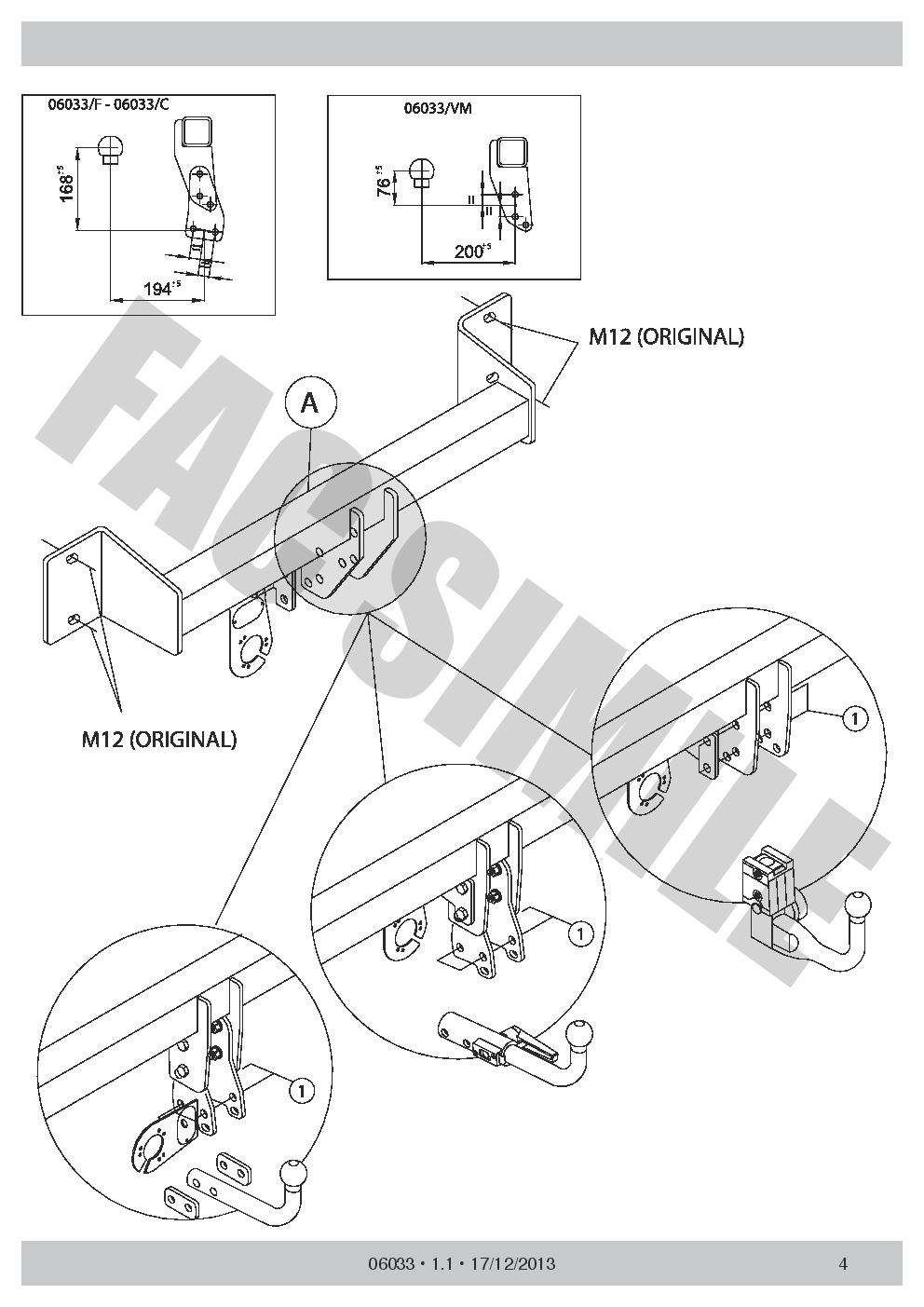 060B4 AHK Starr Anhängerkupplung 13p C2 E-Satz C2 BMW 3 Series Touring F31 12