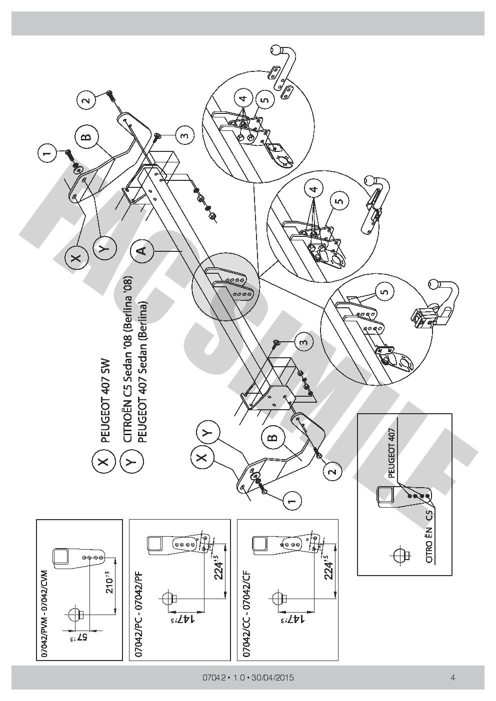 Attelage+7b relais pour Peugeot 407 Berline pas Coupe 2004-2008 07042//PC/_E1