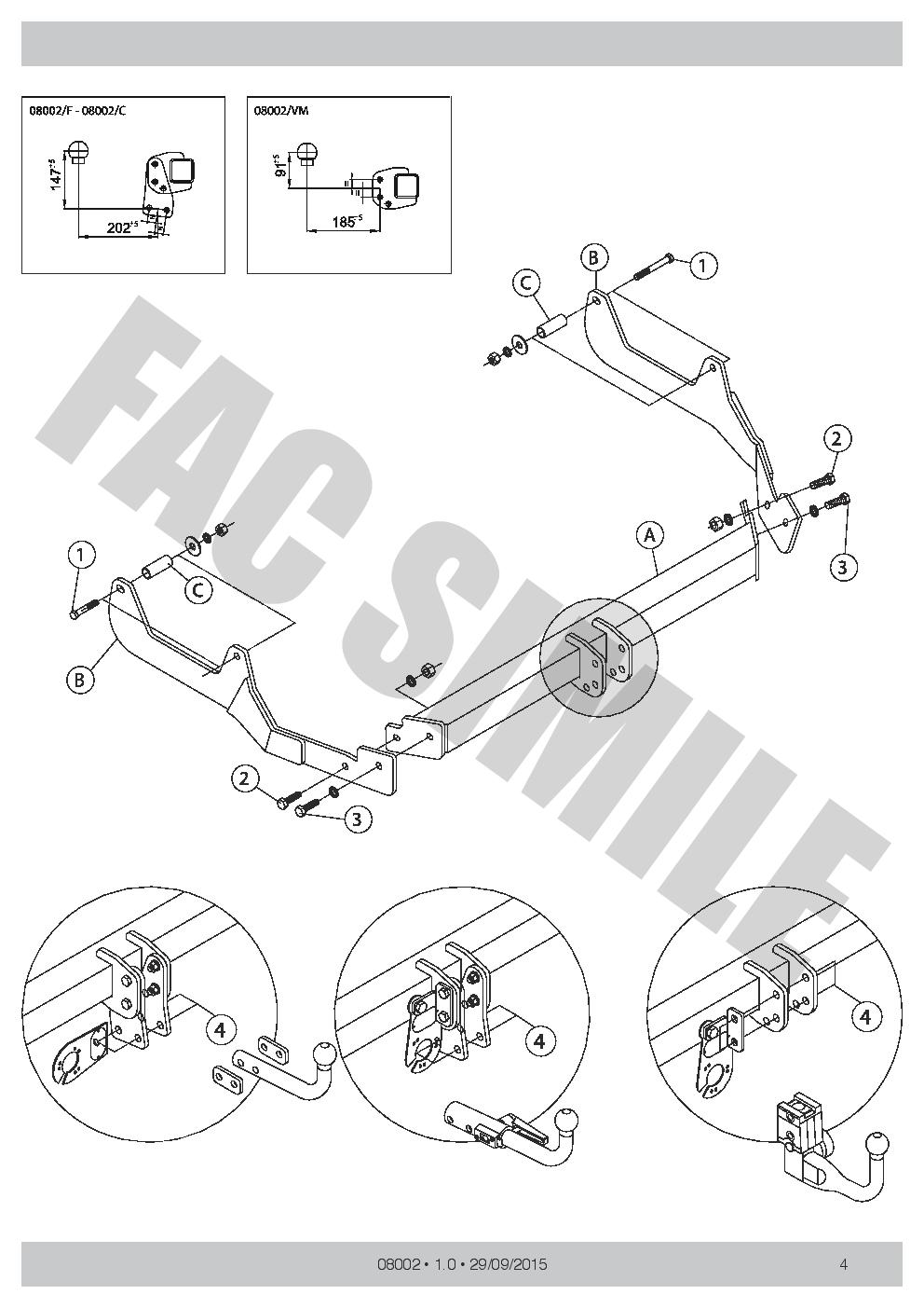 AHK Feste Starre Anhängerkupplung Dacia Logan MCV LPG Version 08-13 08002//F/_B2