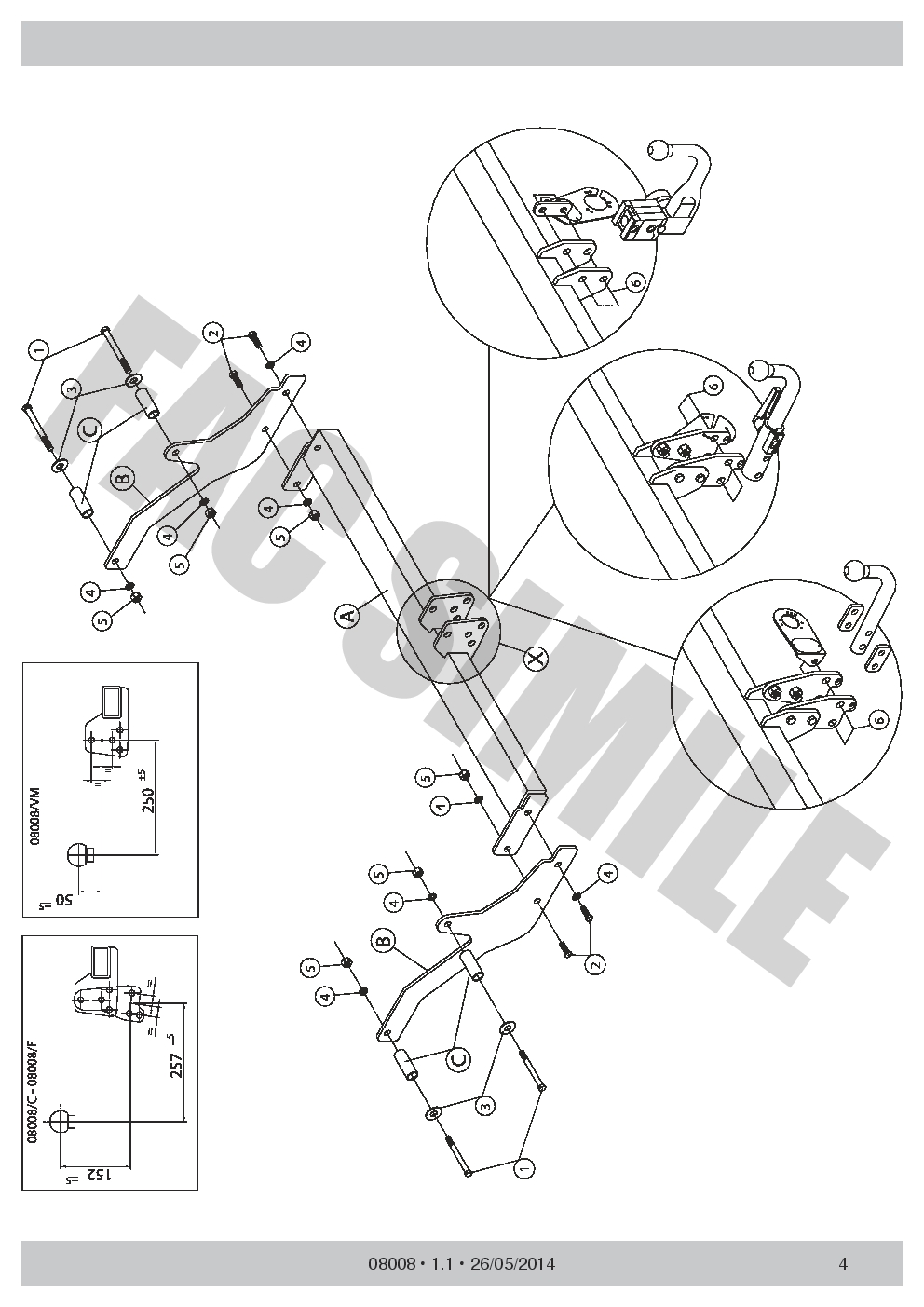 08008//C/_B1 AHK Abnehmbare Anhängerkupplung Dacia Logan MCV Kombi 13