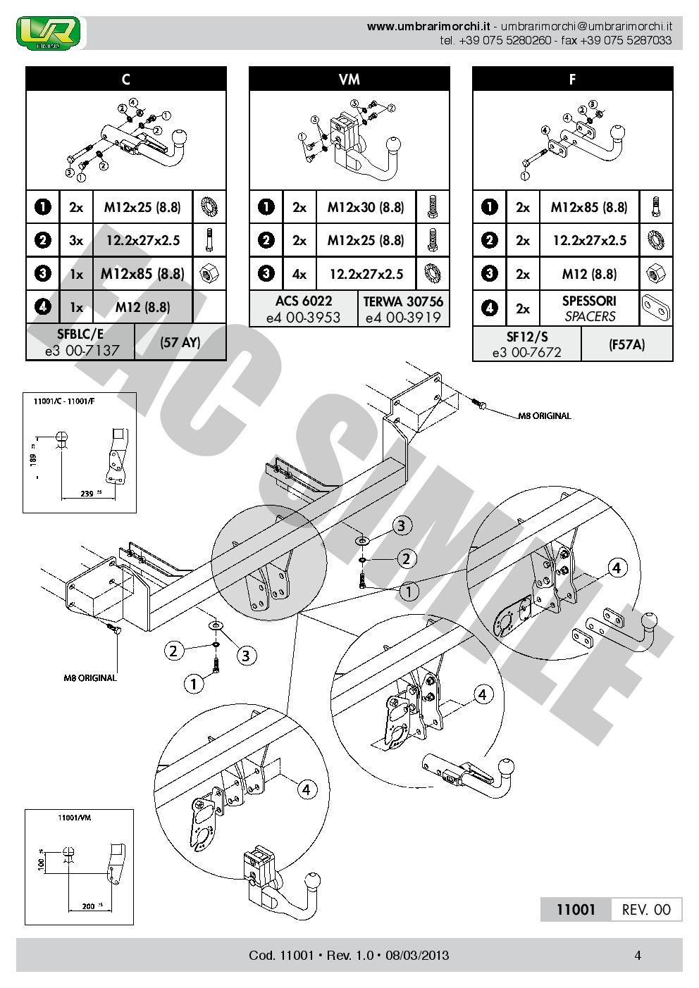 AHK Vertikale Anhängerkupplung 7p C2 E-Satz Mini Cooper R56 Limo 06 1100/_B1