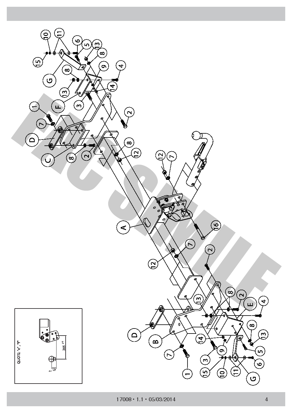 Detachable Towbar 4x2 13 on 1700/_H1 7p Wiring for Isuzu D-MAX 4WD excl