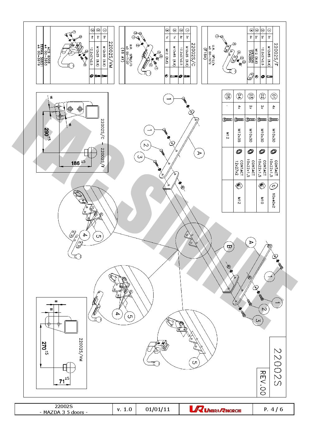 AHK Abnehmbare Anhängerkupplung 13p C2 E-Satz Mazda 3 Sport Fließheck 2003-2013