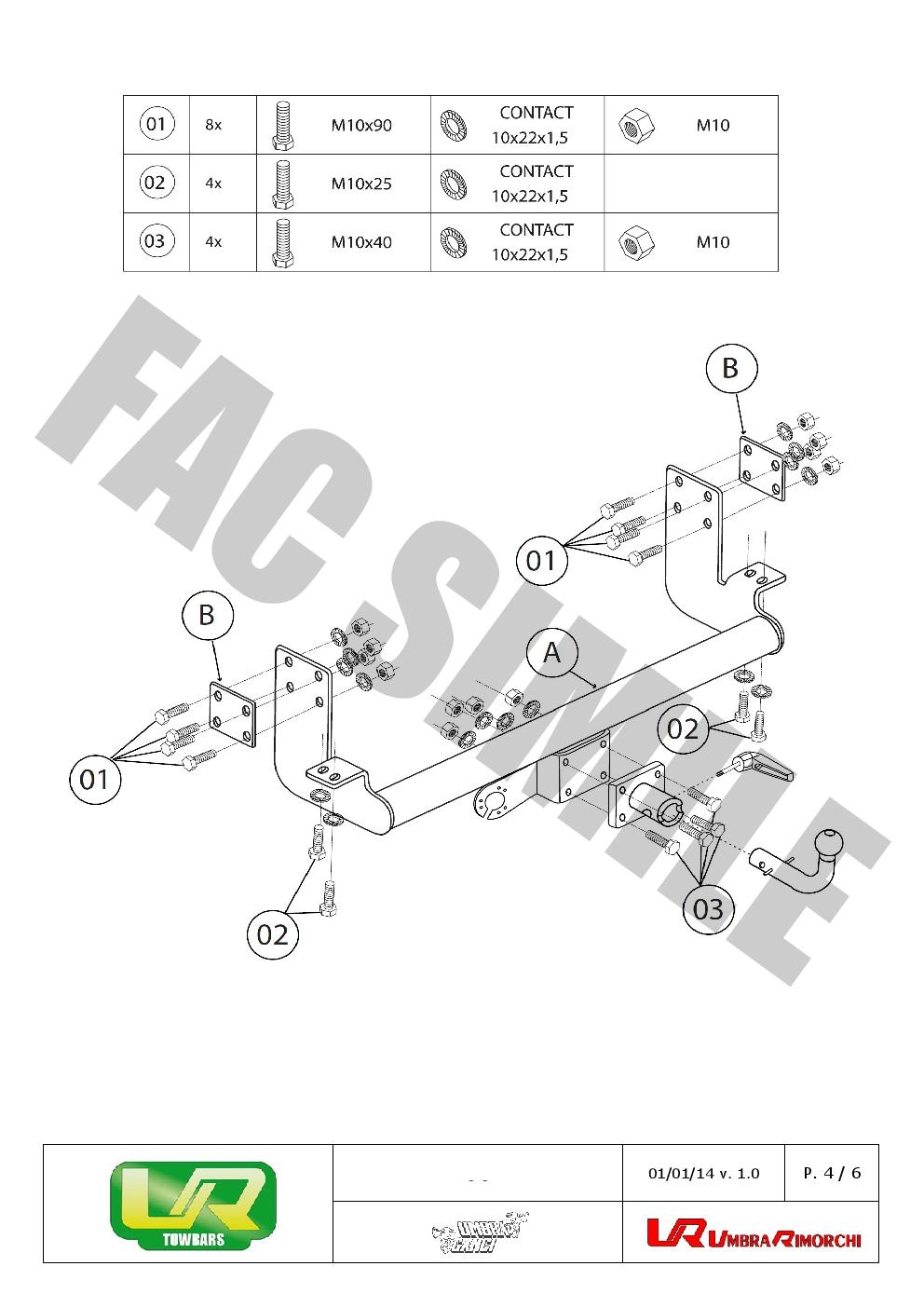 Bola Remolque Desm Kit C2 7p para Mercedes SPRINTER VAN ejes 3,0 95-00 23027/_A1