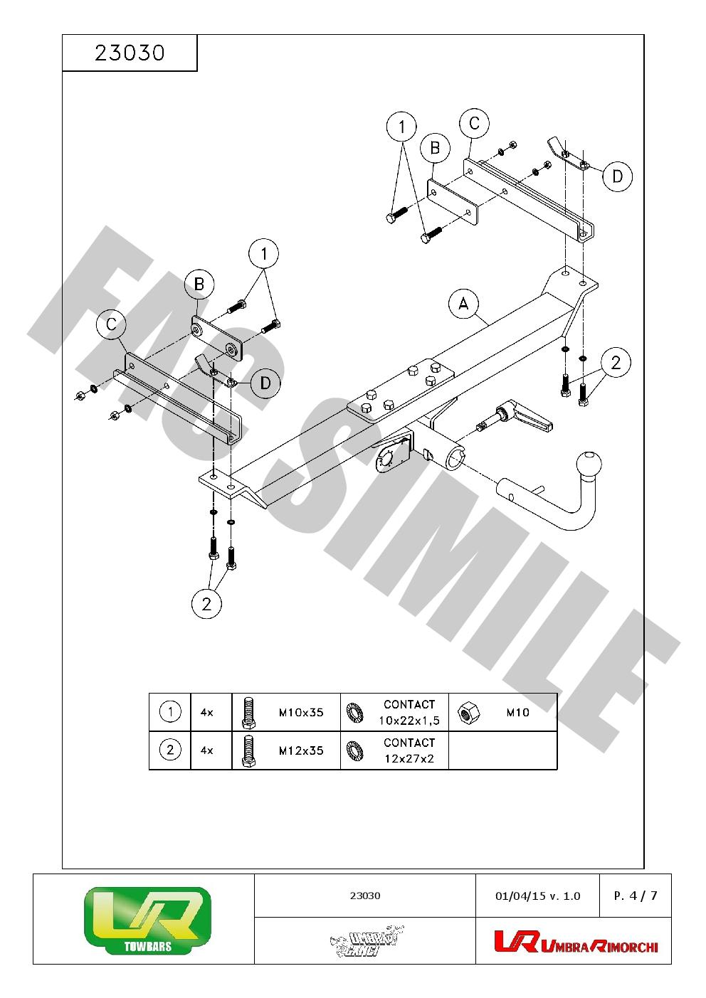 Fixed Swan Neck Towbar For Mercedes E CLASS ESTATE 1996-2002 23030//F/_A1