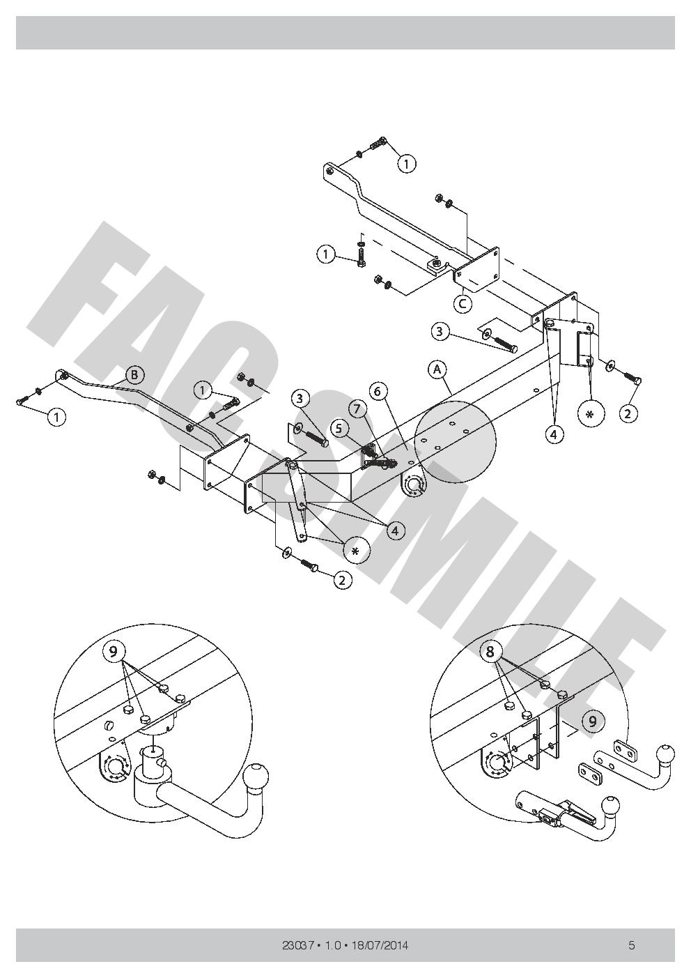 Attelage Démont 13b C2 Kit pour Mercedes CLK COUPÈ pas CABRIO 02-05 23037//C/_A1