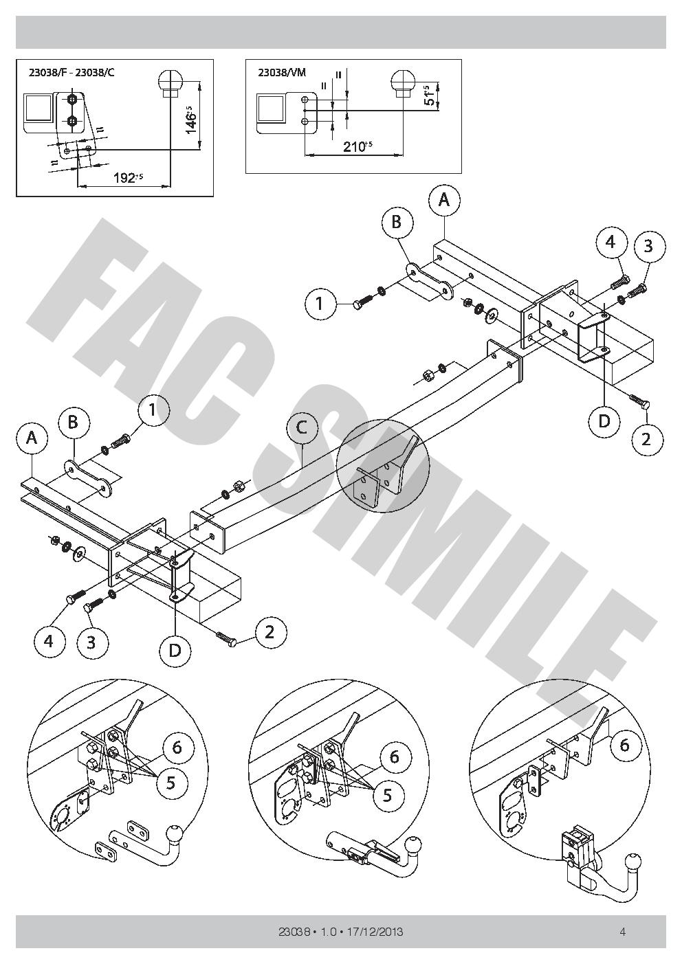 Fixed Swan Neck Towbar For Mercedes E Class Estate 2002-2009 23038//F/_H1