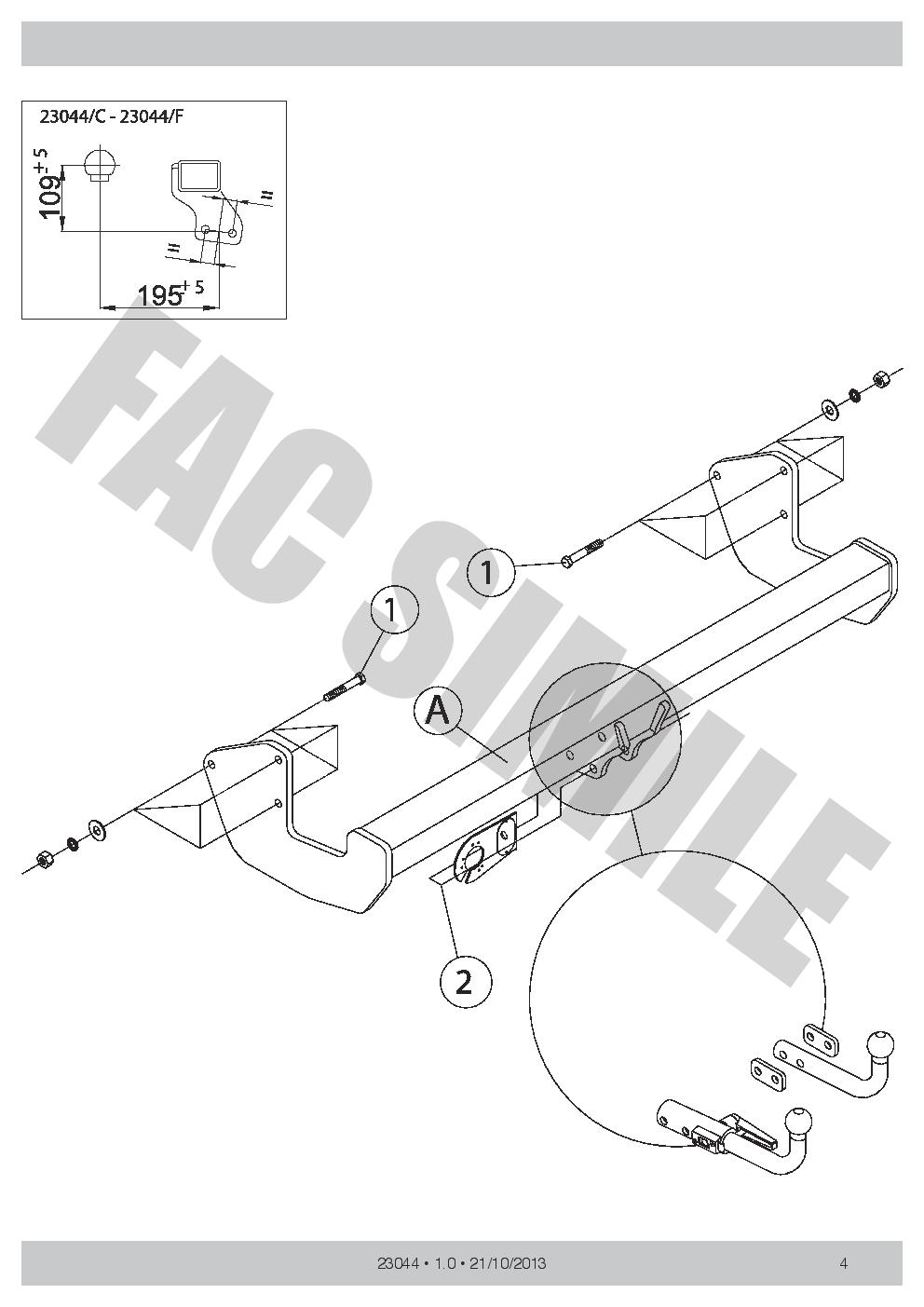 AHK Abnehmbare Anhängerkupplung 7p E-Satz Mercedes Viano MPV 05-14 23044/_A2