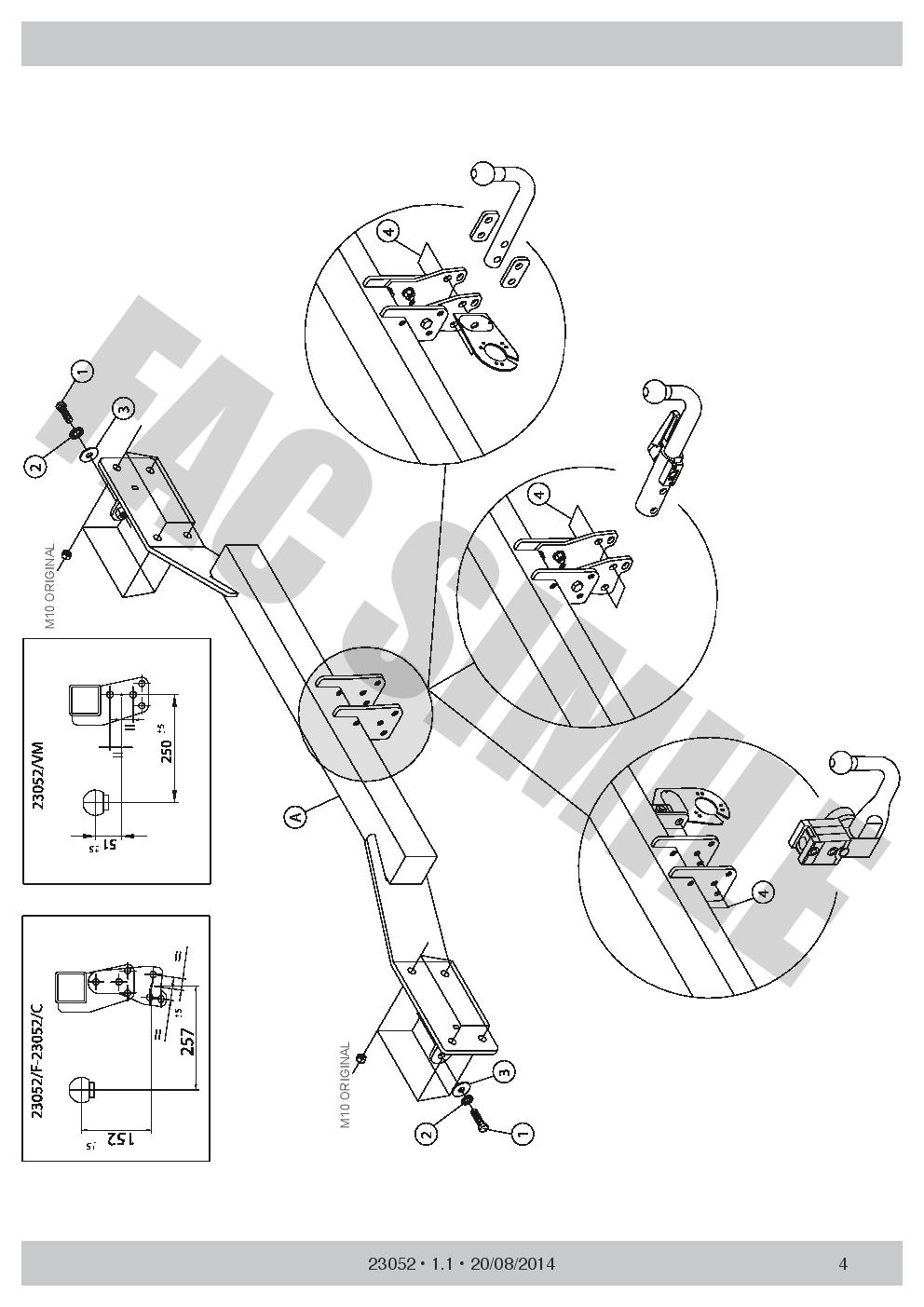 pour Mercedes B-Class Hayon 11-19 23052//C/_E2 Attelage Démont 7 Br relais dériv