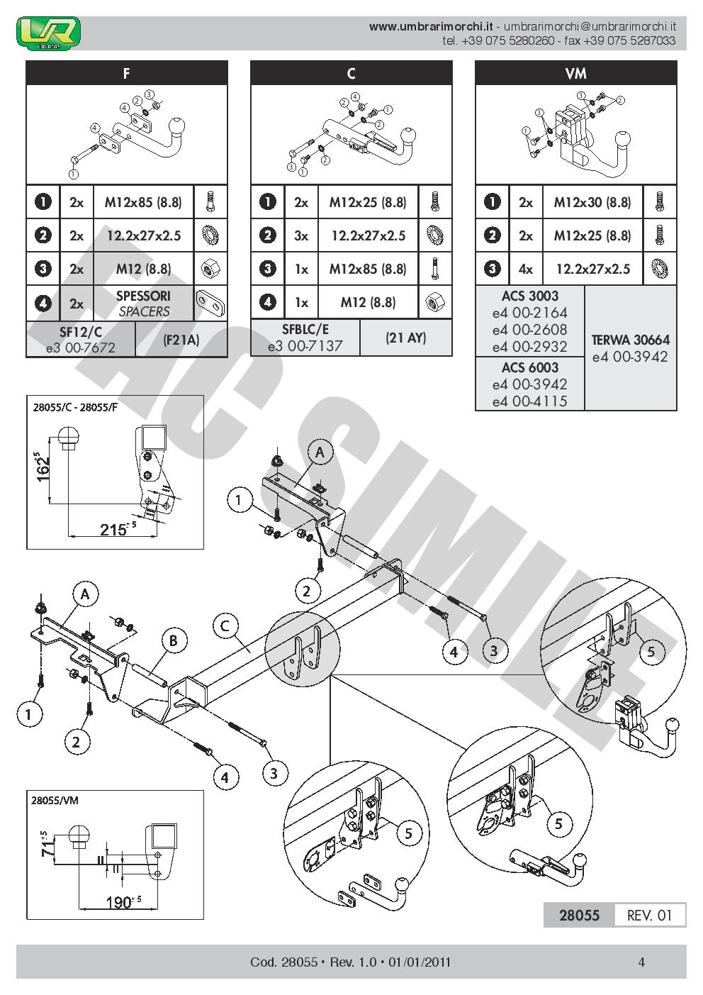 AHK Abnehmbare Anhängerkupplung Opel Zafira B MPV 05-11 uni 13p E-Satz 28055//CB3