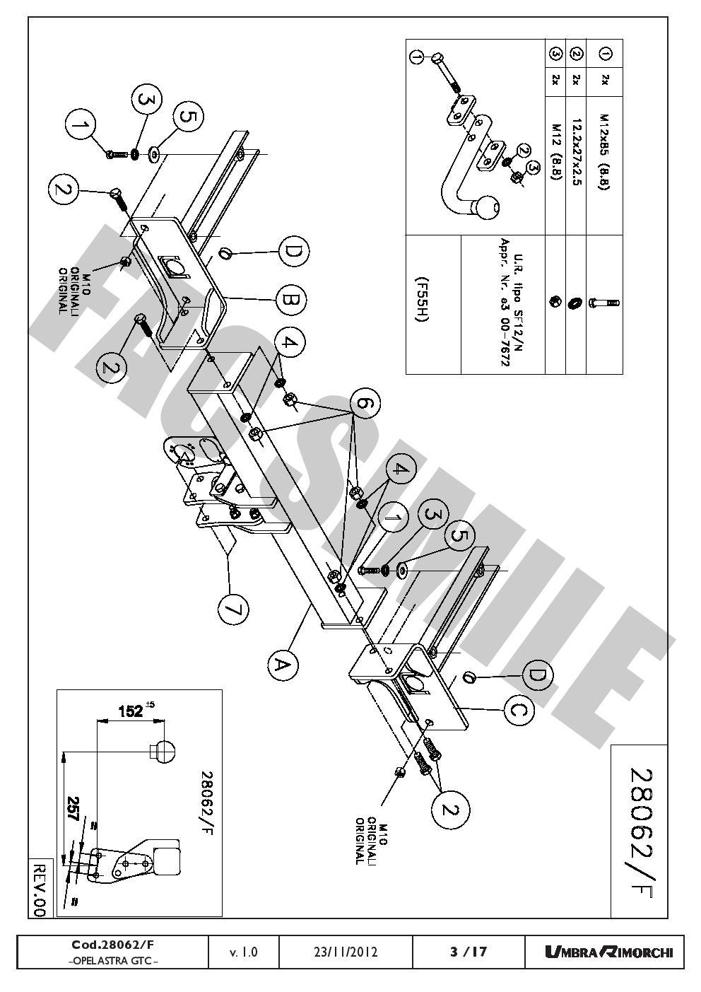 Attelage Col Cygne Faisceaux 7 Br pour Opel Vectra-C Break 02-on 28052//F/_E1