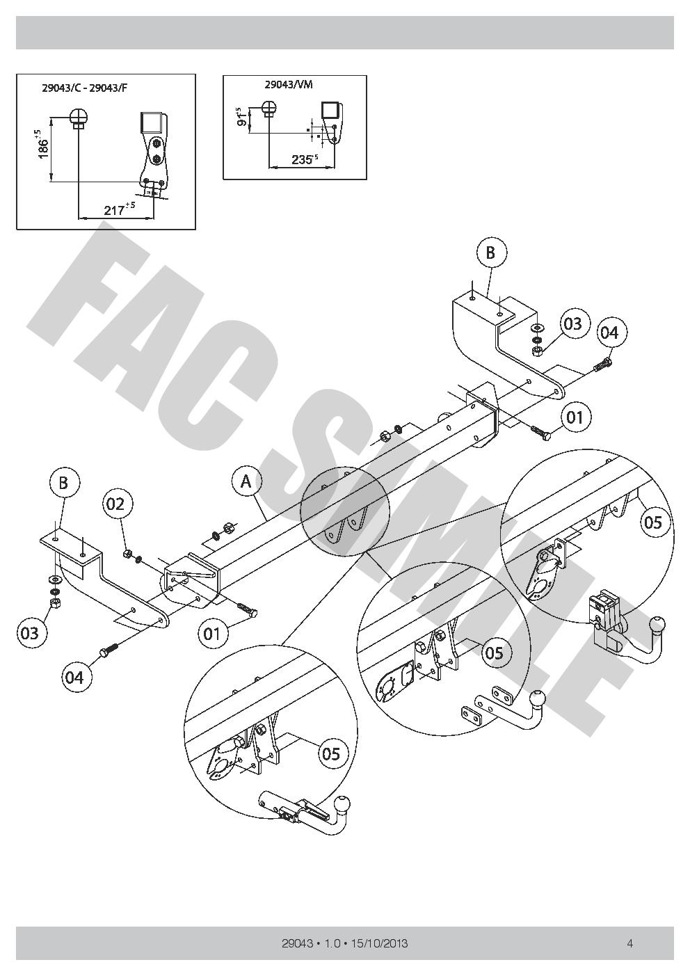 Attelage Démont 7 Br relais dériv pour Peugeot 308 HAYON 3-5p 08-13 29043//C/_B4