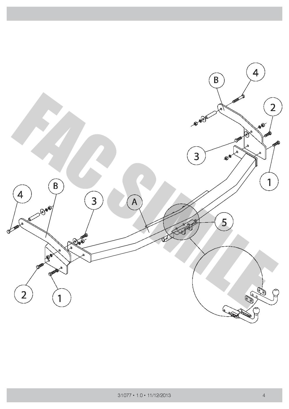 13p C2 Wiring Kit for Renault Espace IV MPV 2002-2015 31077H1 Detachable Towbar