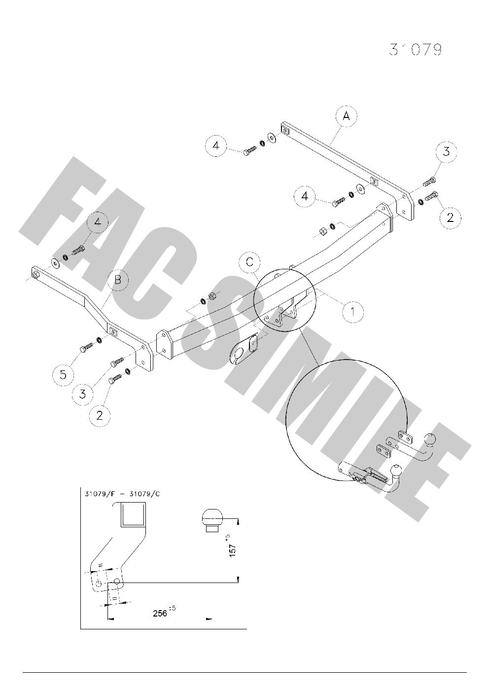 AHK Anhängerkupplung 7p C2 E-Satz Renault Megane 2 Grandtour 03-09 31079/_B2