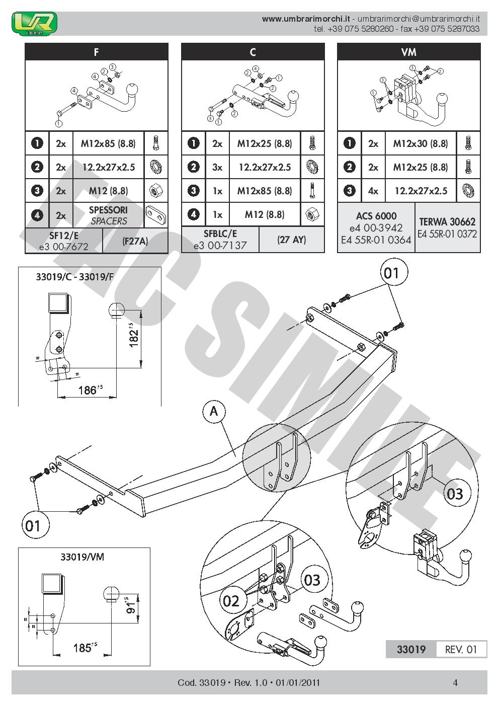 AHK Starre Anhängerkupplung 13p C2 E-Satz Seat LE Fließheck 05-12 33019/_E2