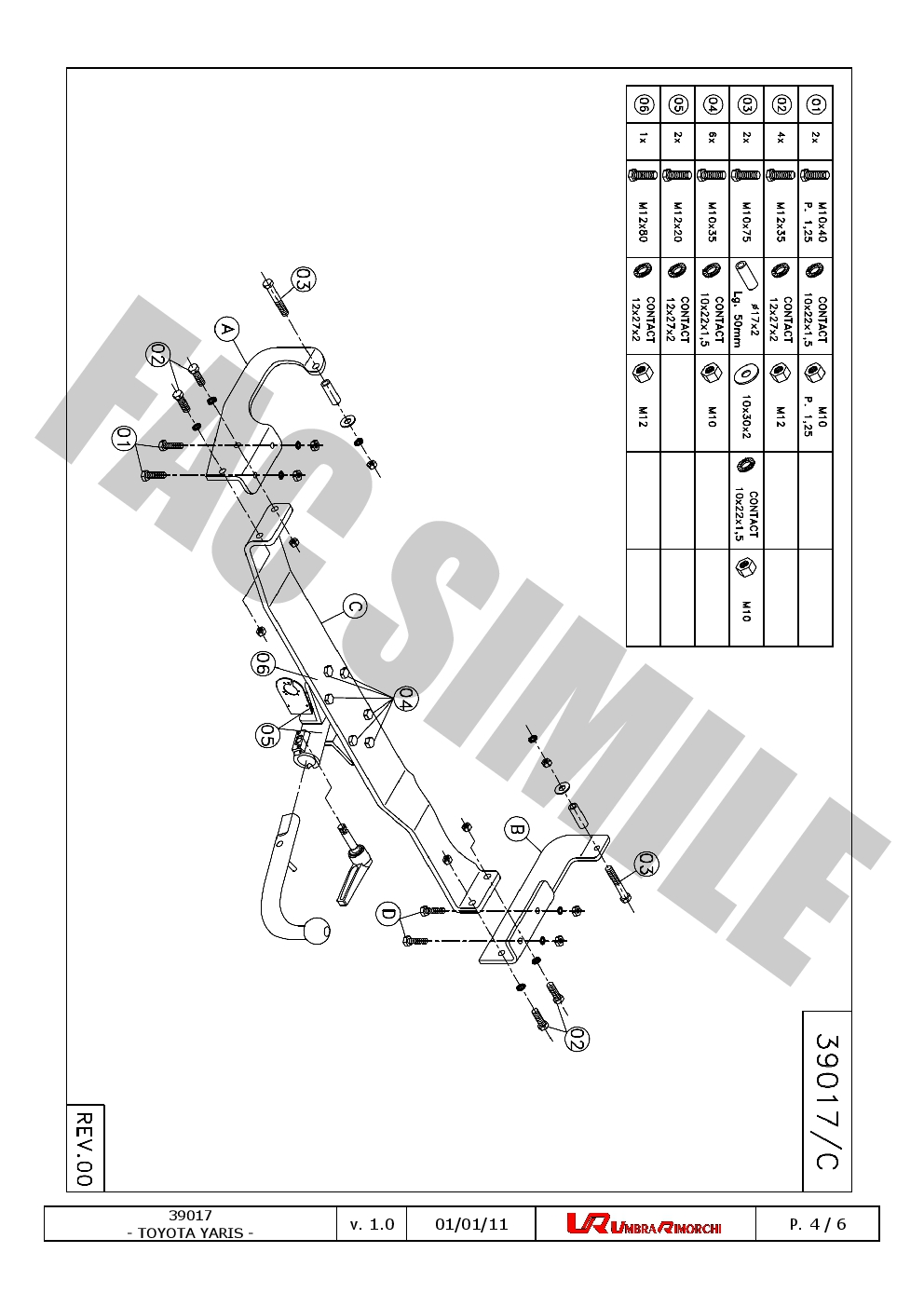 Detachable Towbar For Toyota YARIS Hatchback 3-5door 2001-2005 39017/_H2