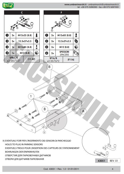 Detachable Towbar 7p Bypass Relay for VW TRANSPORTER T5 Van 2003-2009 43051/_H1