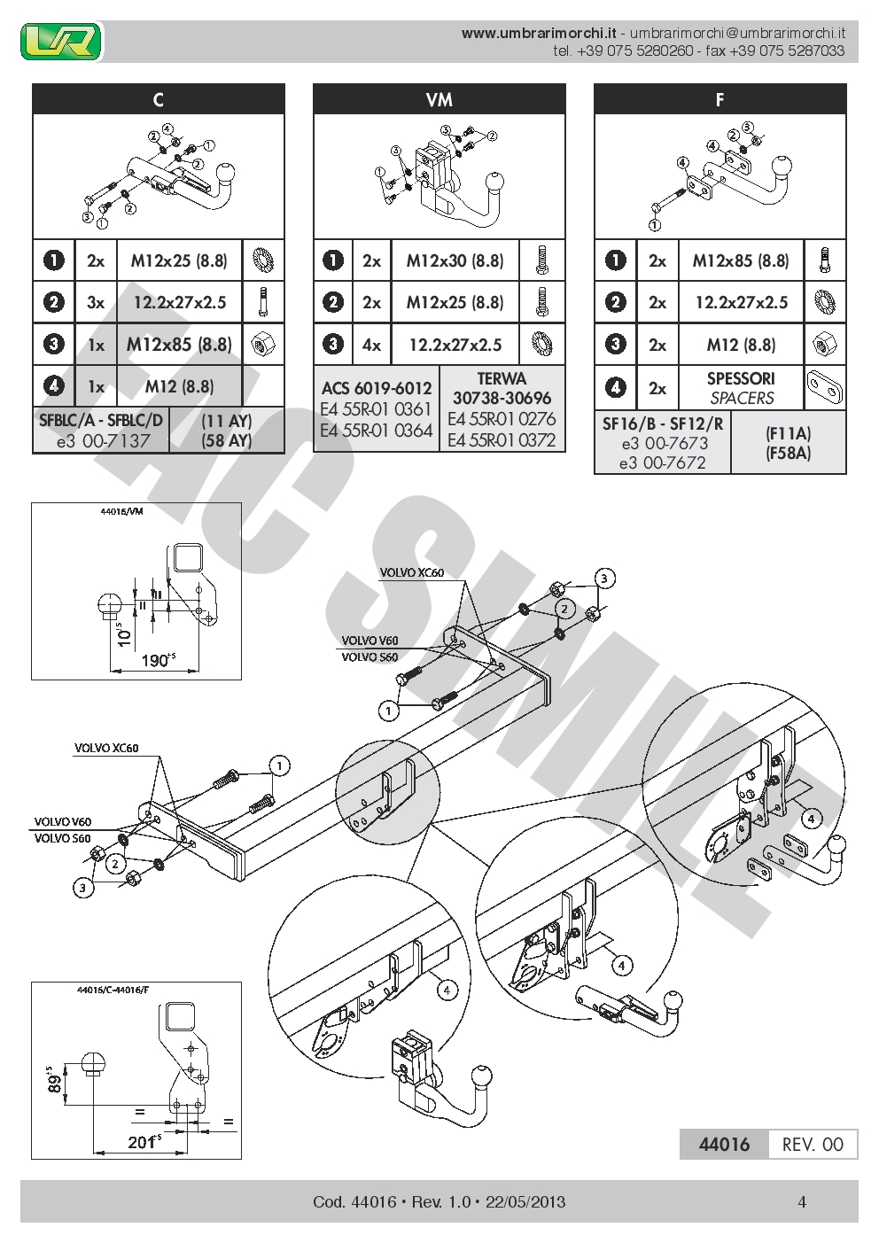 Detachable Towbar 7pin Wiring for Volvo XC60 SUV 2-4WD 12-2014 4401_H2 Tow  Bars Vehicle Parts & Accessories | Volvo Towbar Wiring Diagram |  | Pashun Consulting Ltd.