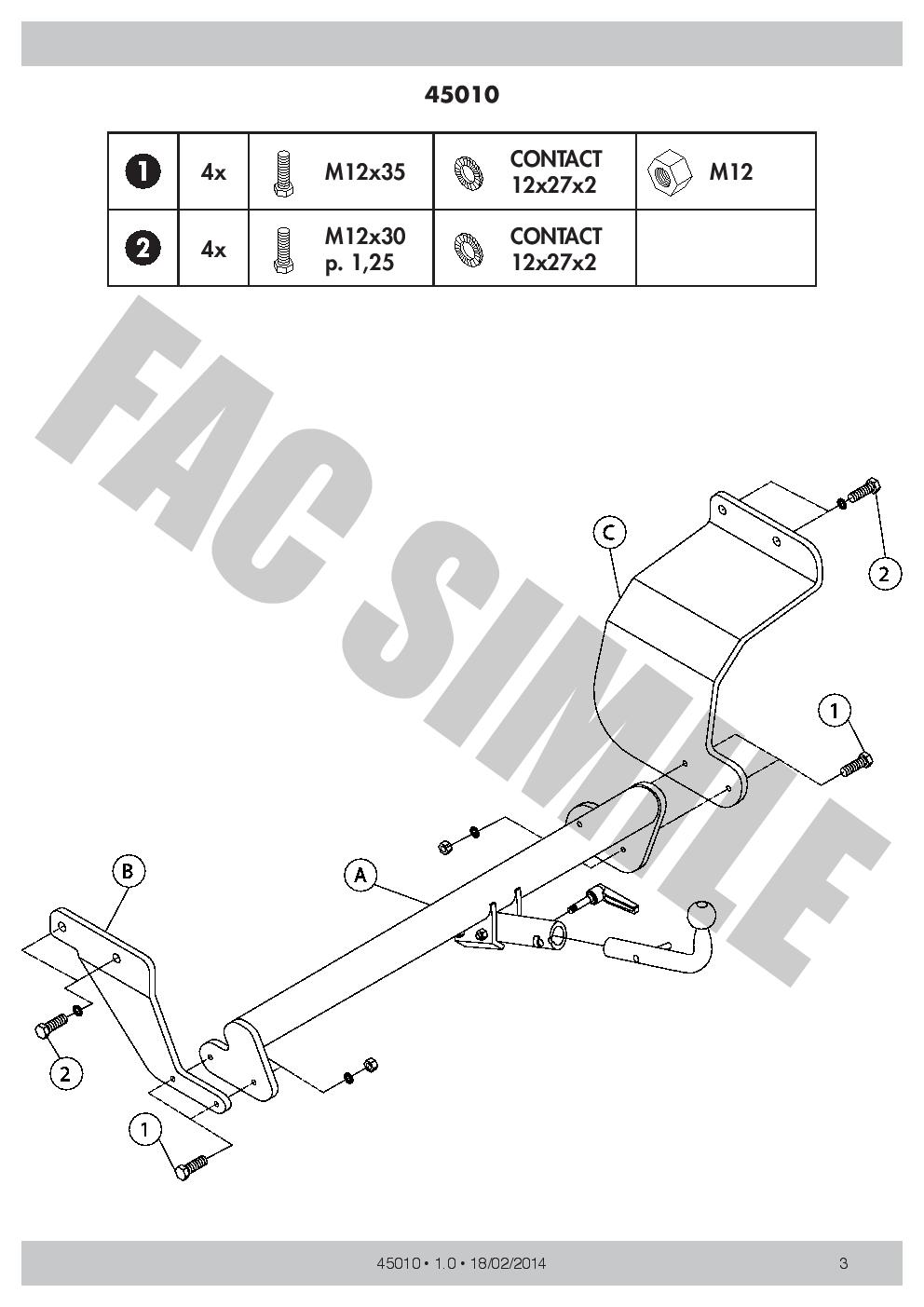 Detachable Towbar For Hyundai MATRIX MPV 2001-2008 45010/_H1