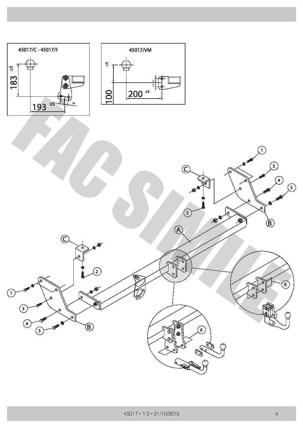 7pin Electrics for Hyundai i30 Hatch 5dr 2008-2012 45017//C/_E1 Detach Towbar