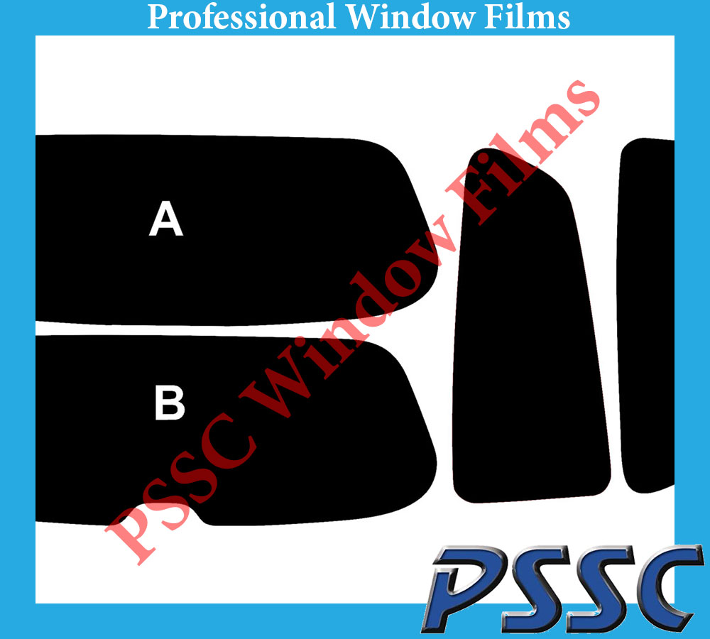 PSSC Pre Cut Front Car Window Films for Honda Civic Type R 2004 to 2005 05/% Very Dark Limo Tint