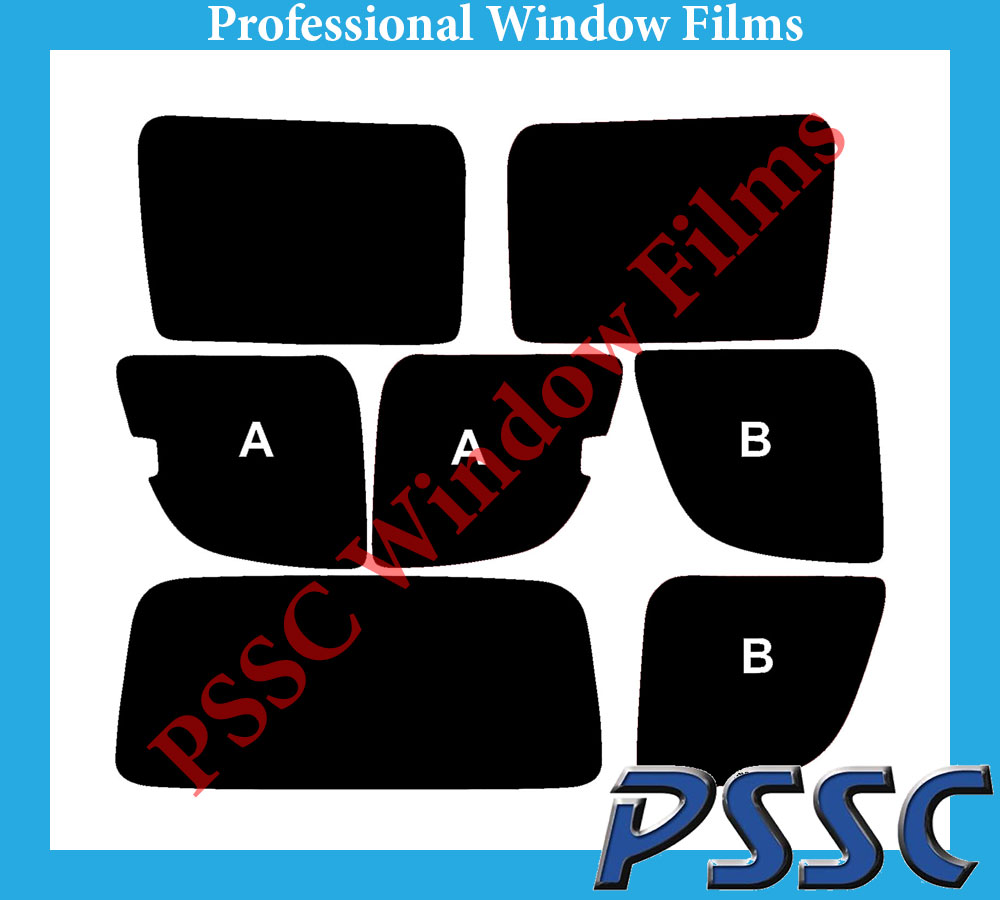 PSSC Pre Cut Rear Car Window Films for Mercedes Vaneo 2002 to 2005 05/% Very Dark Limo Tint