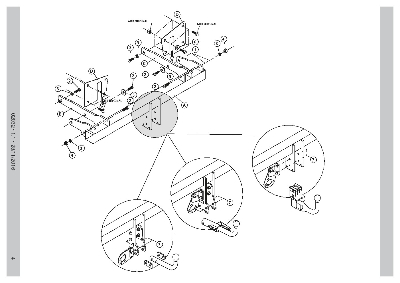 AHK Abnehmbare Anhängerkupplung Renault Grand Scenic III