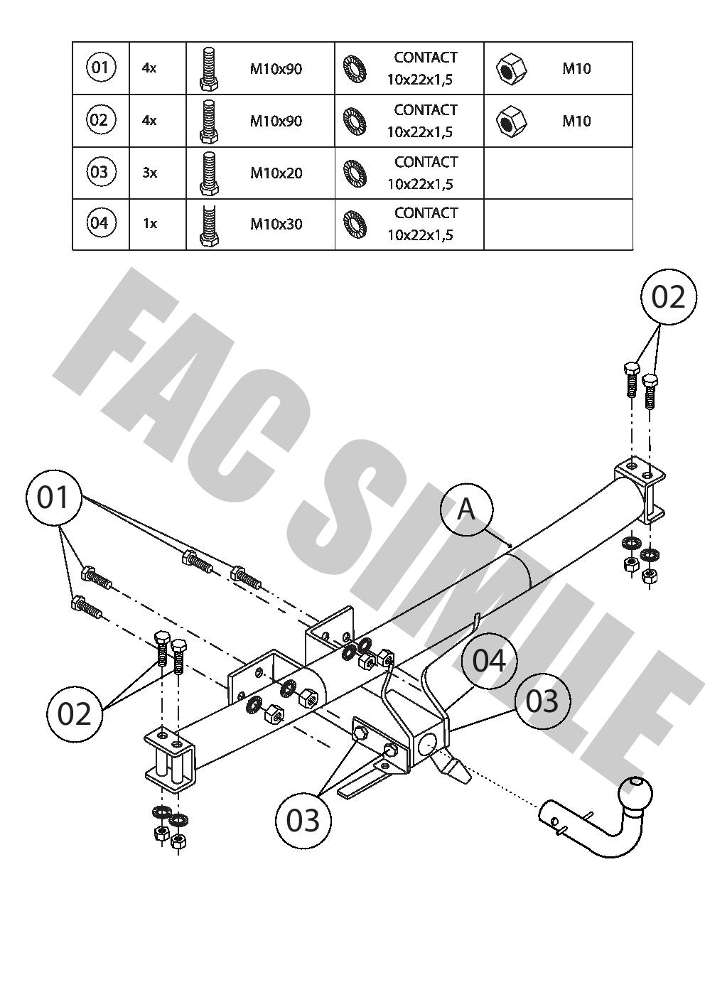 Attelage Col Cygne Faisceaux 7Br pour Rover FREELANII SUV 4 WD 07-12 03026//F/_B1