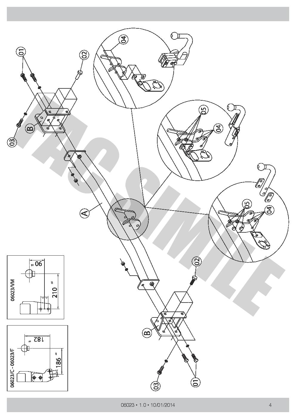 pour BMW 3 Ser Berline F30 12 06033/_E3 7Br relais dériv Attelage Col de Cygne