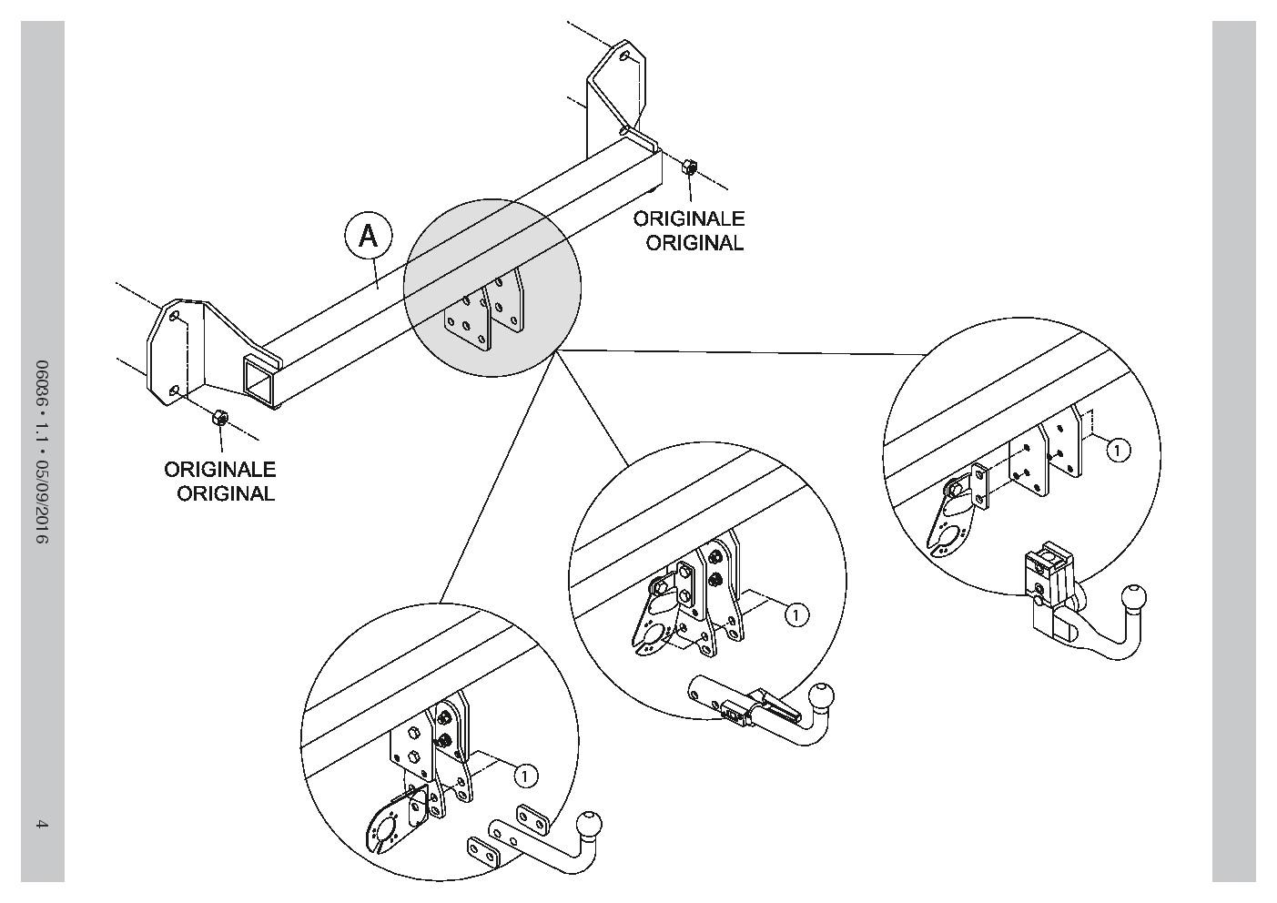 1409/_B1 AHK Feste Starre Anhängerkupplung+13p C2 E-Satz Ford Ecosport 2-4WD 14