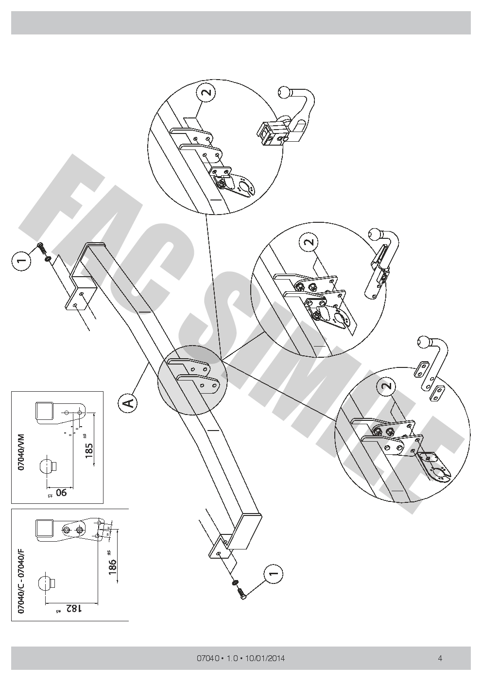 Fixed Swan Neck Towbar 7 Pin Wiring Car Tow Bar For Citroen C3 Ii X Diagram