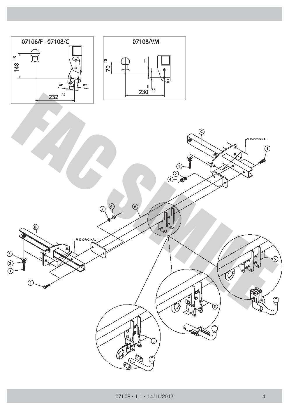 Detachable-Towbar-13p-Wiring-C2-for-Chevrolet-Cruze-