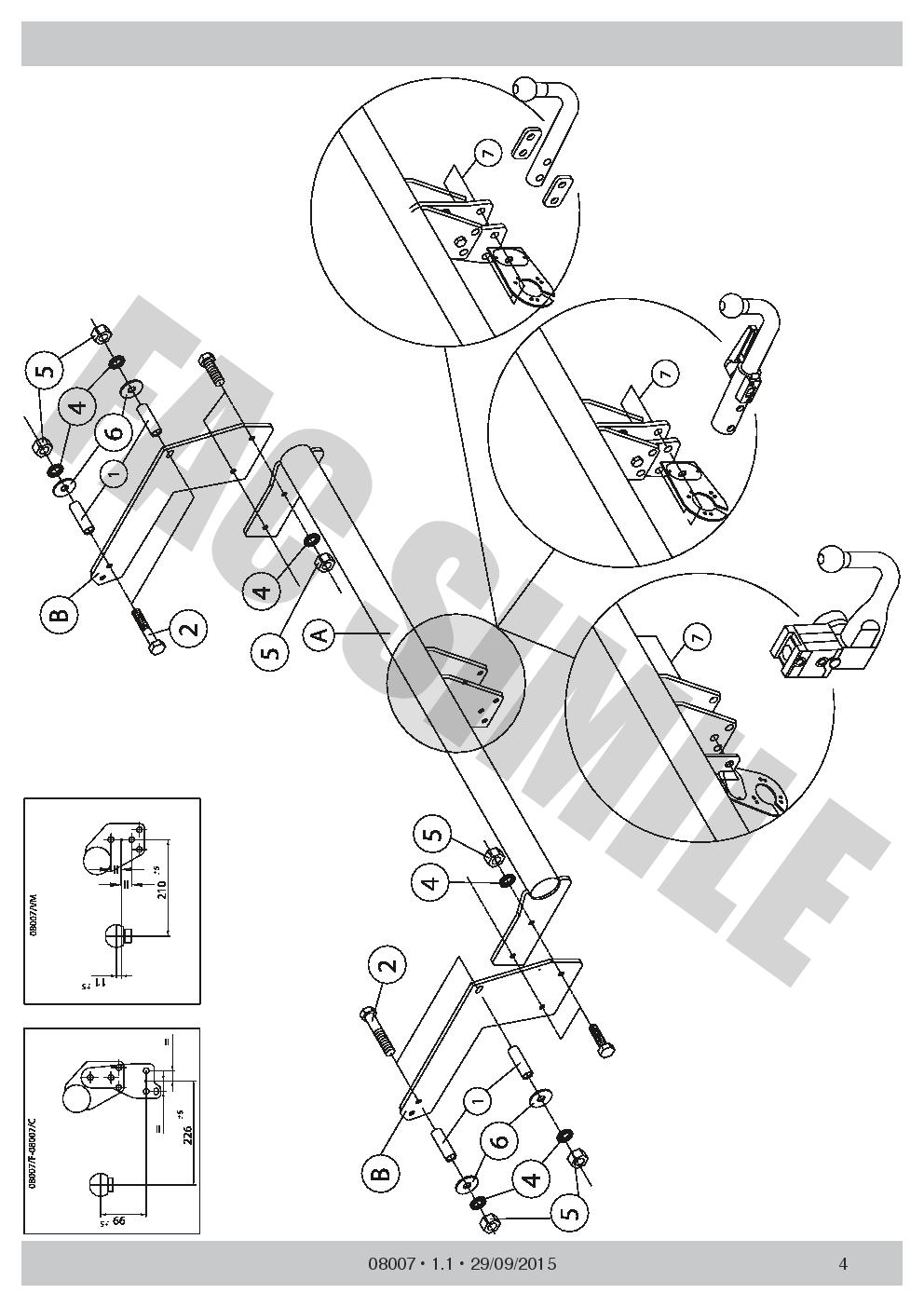 Attelage Col de Cygne pour Dacia Duster SUV 2-4WD pas LPG 10 08007//F/_E1