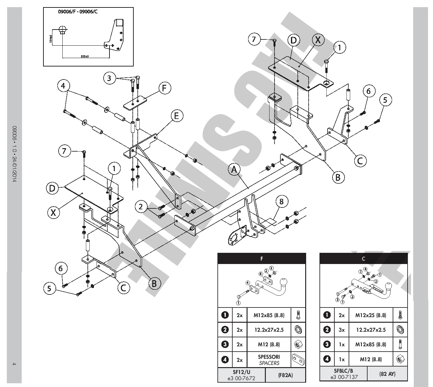 Seat Altea XL 06.2009-10.2012 WESTFALIA Anhängerkupplung starr inkl EBA Neuware