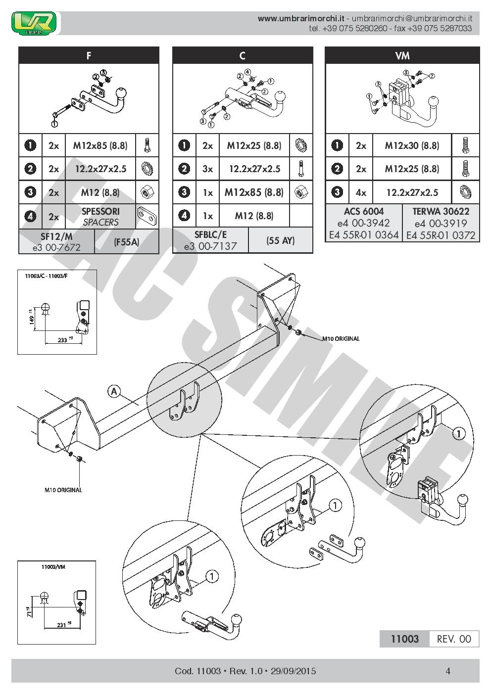 Attelage Démont 7Br relais pour Mini Countryman R60 Berline 3-5p 10-2016 11003B1
