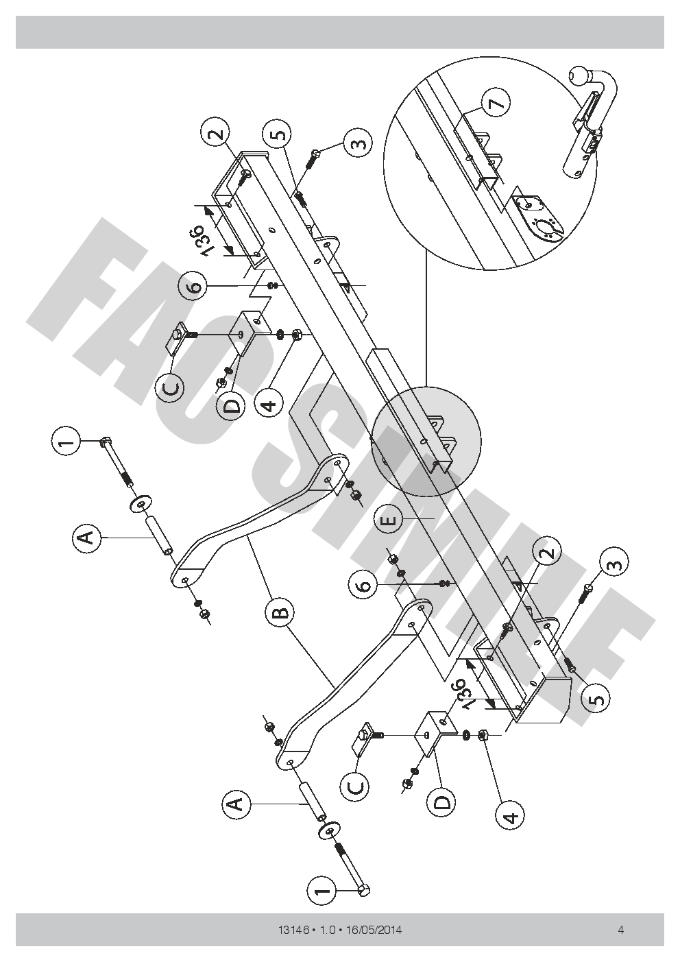 Detach-Towbar-13pin-C2-Wiring-Kit-for-Fiat-