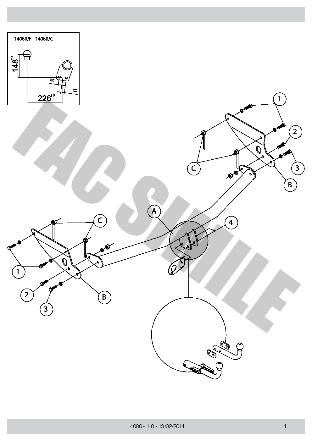 Detachable Towbar 13p C2 Wiring For Ford Focus Style Wagon