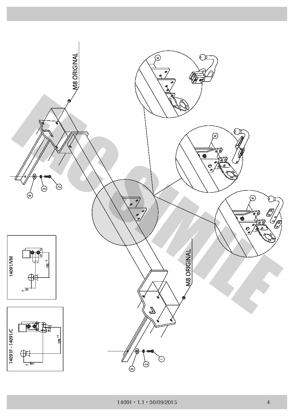 Detachable Towbar 7pin Wiring Bypass Relay For Ford Transit Connect