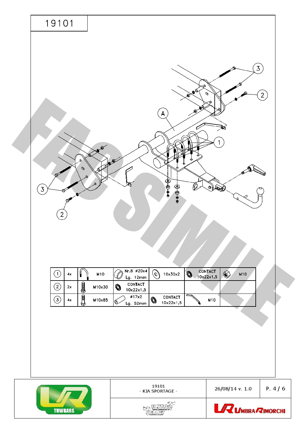 Detachable Towbar 13p C2 Wiring For Kia Sportage Suv 4wd 2