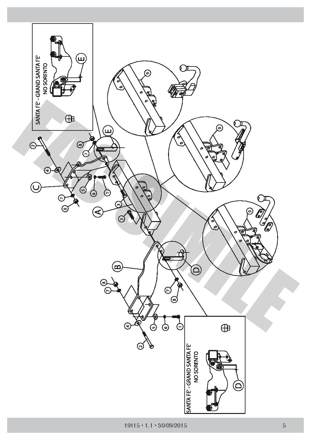 swan neck towbar 13p c2 wiring kit for kia sorento 2