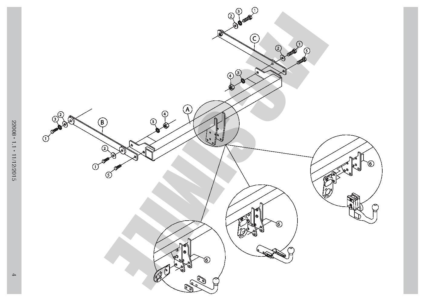 Abnehmbare Anhängerkupplung 13-polig C2 E-satz für Mazda CX-3 2-4WD ...
