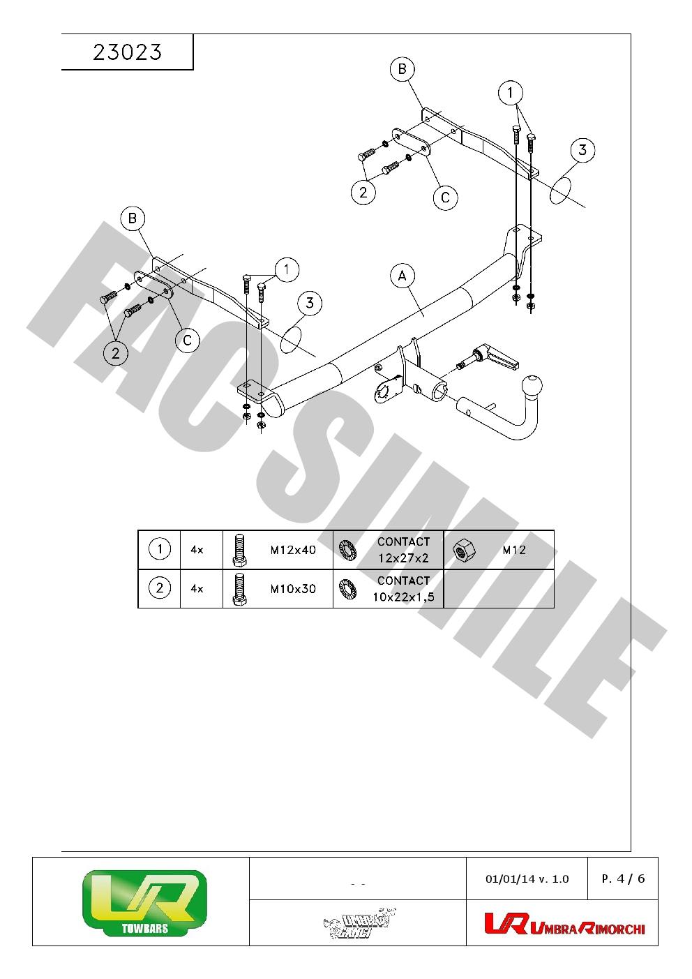 Bola Remolque Desmont Kit C2 7 pin para Mercedes E CLASS BERLINA 95-02 23023A1