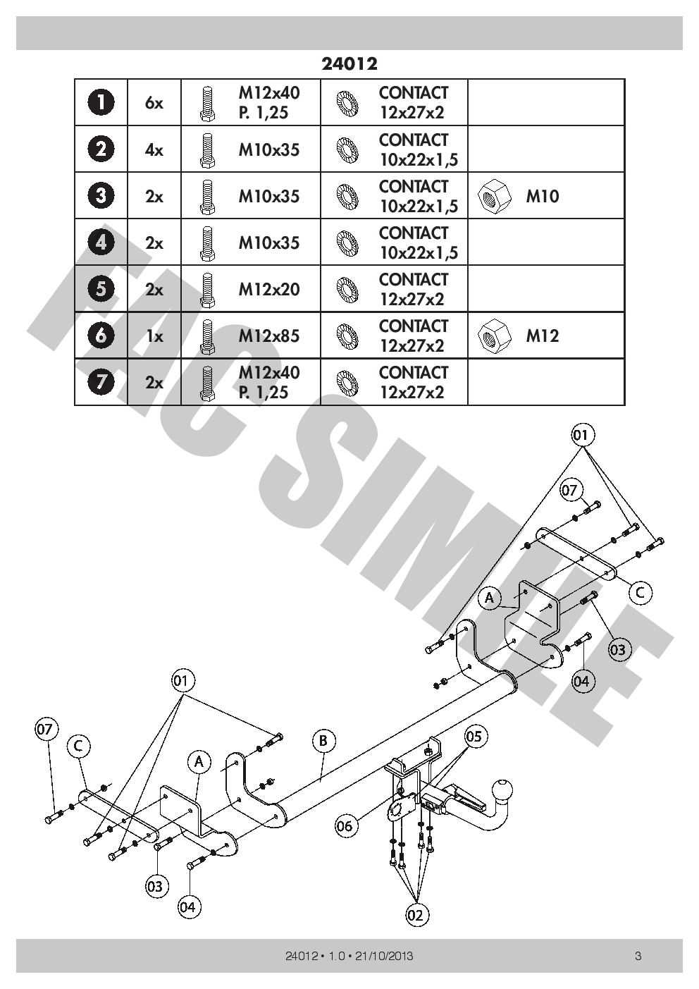 Superb Detachable Towbar 13P C2 Wiring For Mitsubishi Pajero Pinin 4Wd 5Dr Wiring Cloud Hisonuggs Outletorg