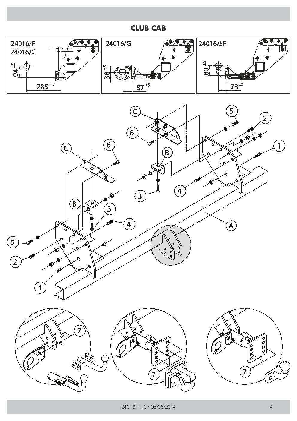 Detachable Towbar 7pin Wiring for Honda Jazz Hatchback 5 doors 08-16 15015//C/_E1